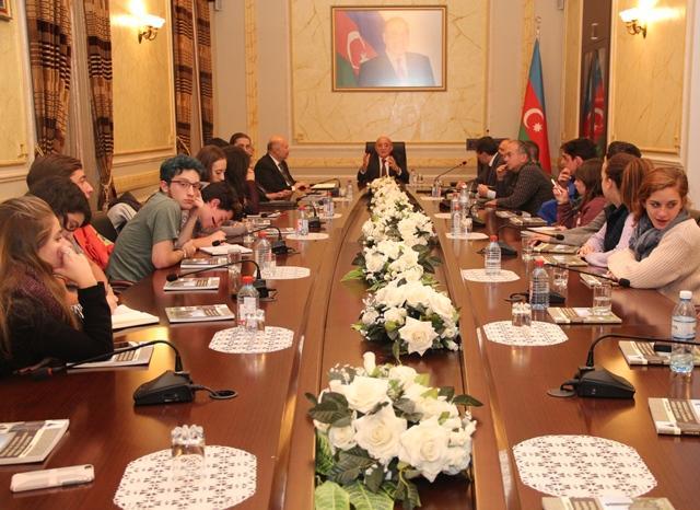 Dövlət Komitəsinin sədri yəhudi tələbələrlə görüşüb (FOTO)