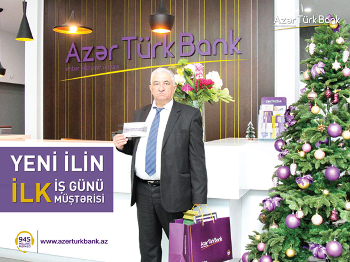 First working day of Azer Turk Bank begins with a gift  (PHOTO)