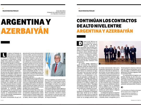 Nüfuzlu Argentina nəşrinin Azərbaycanla bağlı buraxılışı işıq üzü görüb  (FOTO)