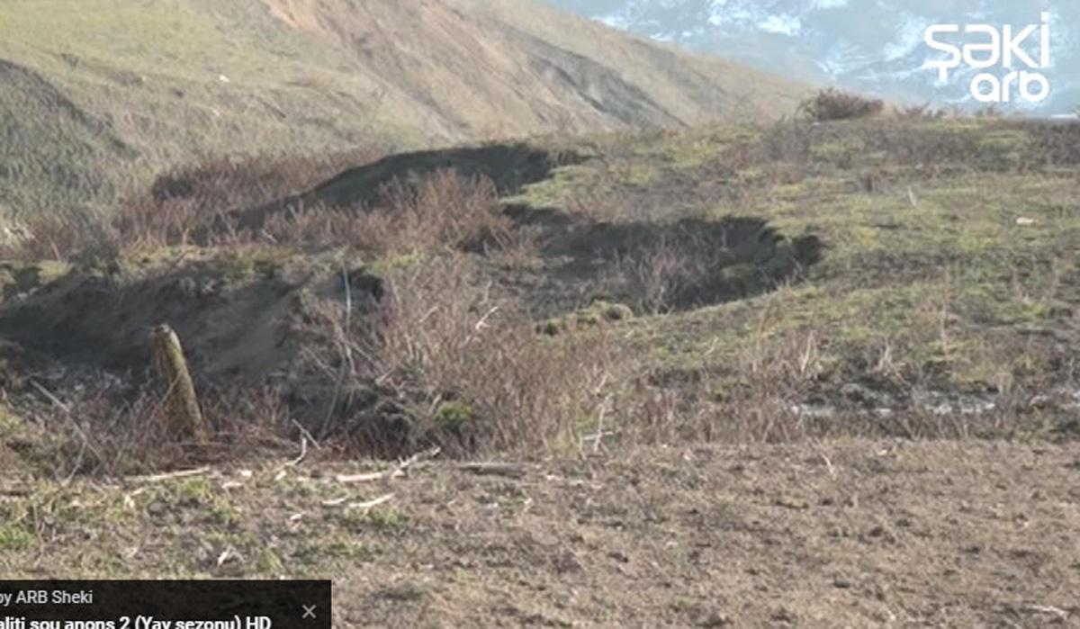 Şamaxıda sürüşmə təhlükəsi (FOTO/VİDEO)