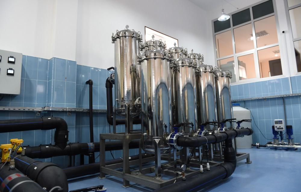 İlham Əliyev Şahbuzda içməli su təchizatı və kanalizasiya sistemlərinin istifadəyə verilməsi mərasimində iştirak edib (FOTO)