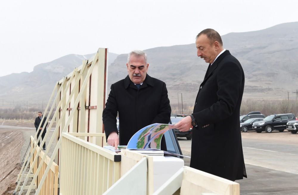 Ilham Aliyev attends groundbreaking ceremony of Ordubad HPP (PHOTO)