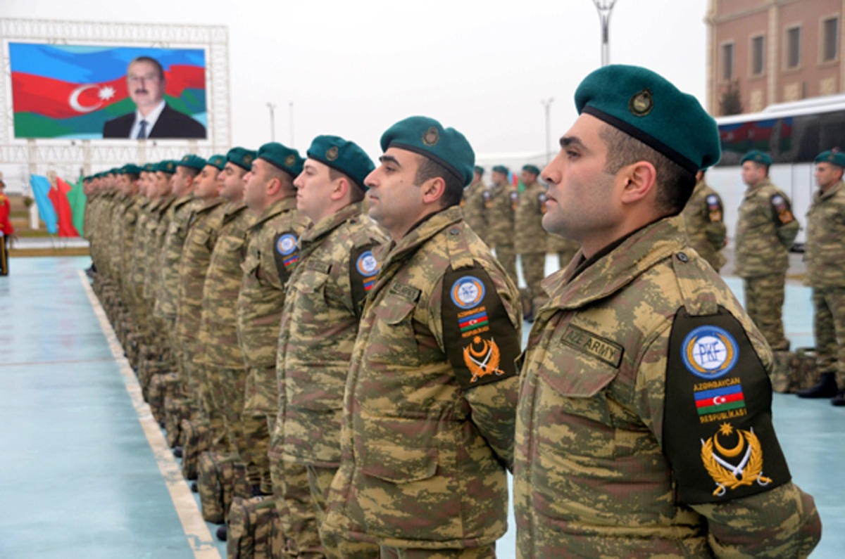 Azərbaycan sülhməramlıları Əfqanıstana yola salınıb (FOTO)