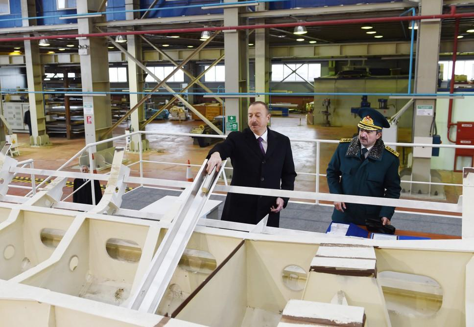 Ilham Aliyev views newly-constructed 'Tufan' ship of State Border Service (PHOTO)