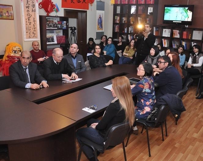 """ADU-da """"Konfutsi İnstitutlarının fəaliyyətlərinin aktual məsələləri"""" seminarı keçirilib (FOTO)"""