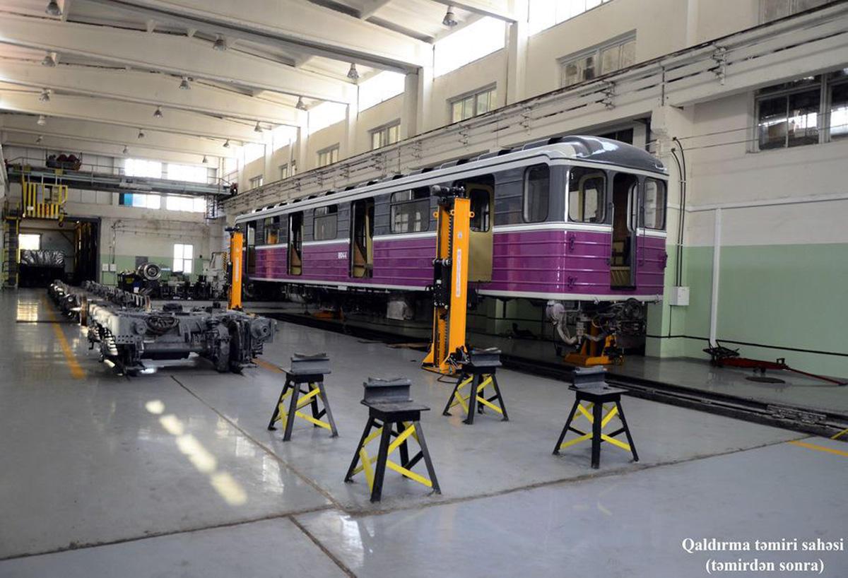 Bakı Metropolitenində 175 vaqon təmir edilərək xəttə buraxılıb (FOTO)
