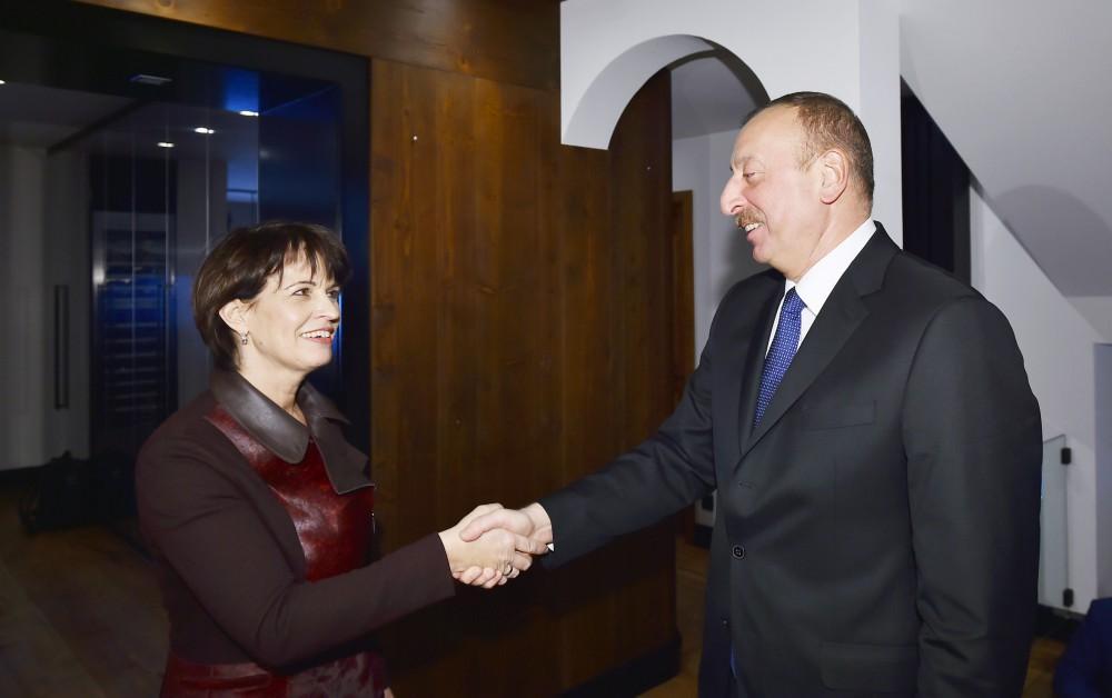 Davosda Azərbaycan və İsveçrə prezidentləri arasında görüş olub (FOTO) (YENİLƏNİB)