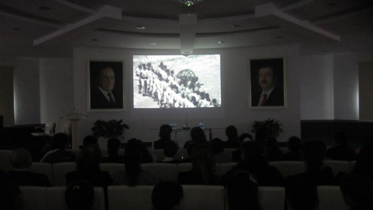 20 Yanvar faciəsinin ildönümü ilə bağlı milli qəhrəmanlara həsr olunmuş filmlər nümayiş olunur (FOTO)