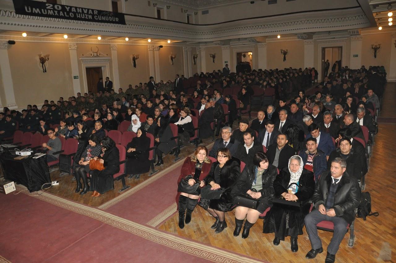 Qaradağda 20 Yanvar şəhidlərinin xatirəsi anılıb (FOTO)