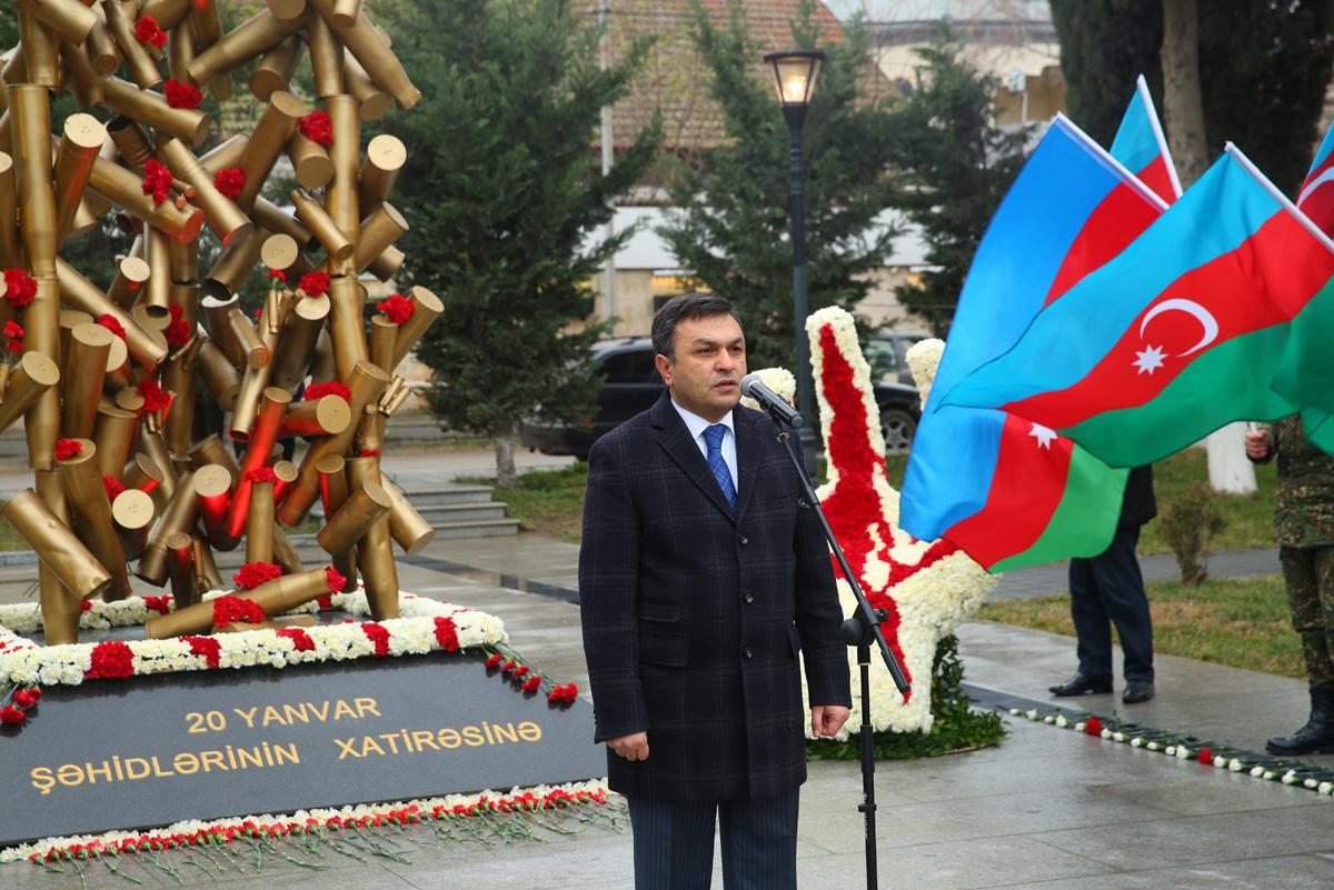 Binəqədidə 20 Yanvar şəhidlərinin xatirəsi anılıb  (FOTO)