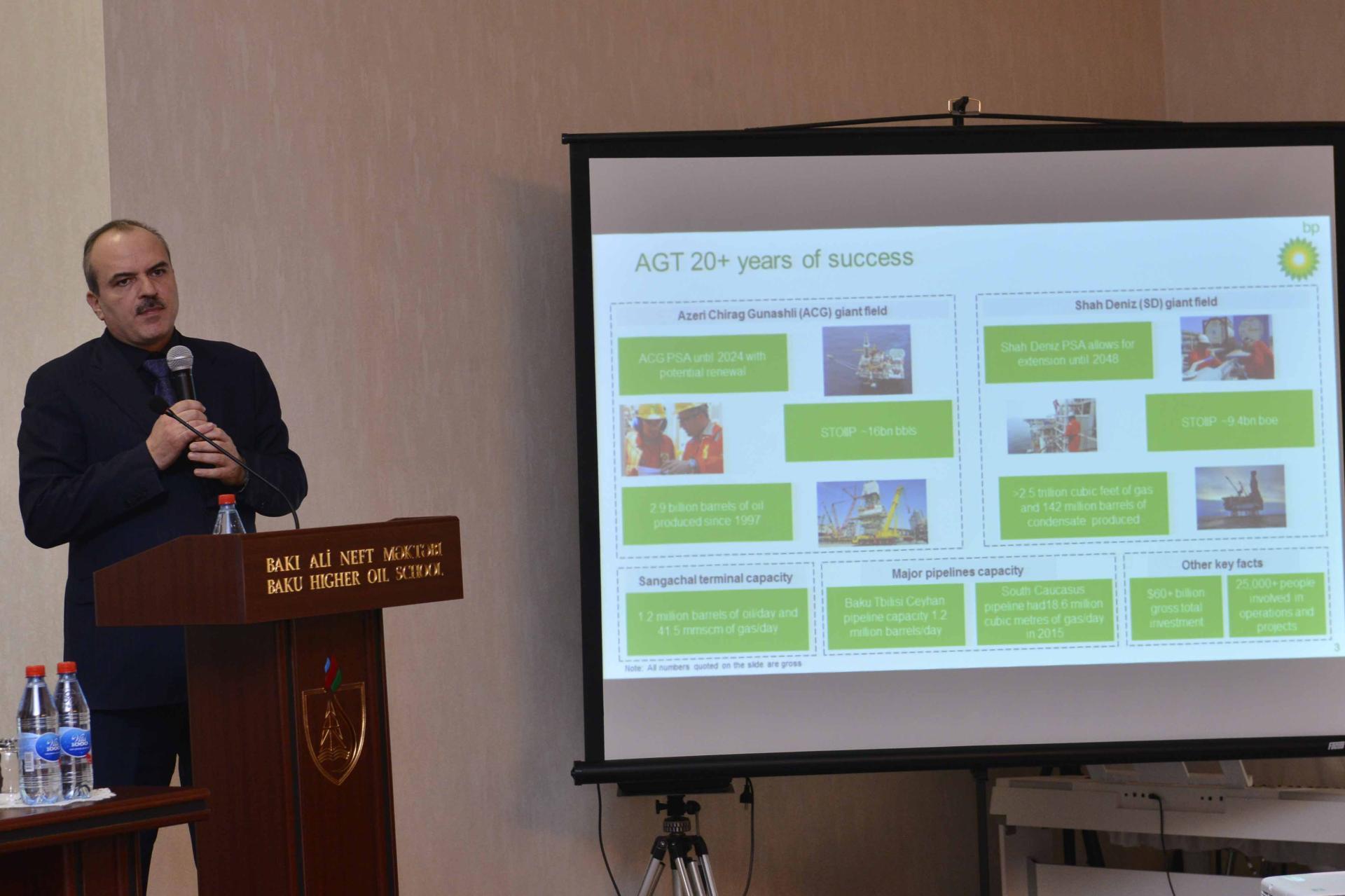 BP-nin vitse-prezidenti BANM-də təqdimatla çıxış edib (FOTO)