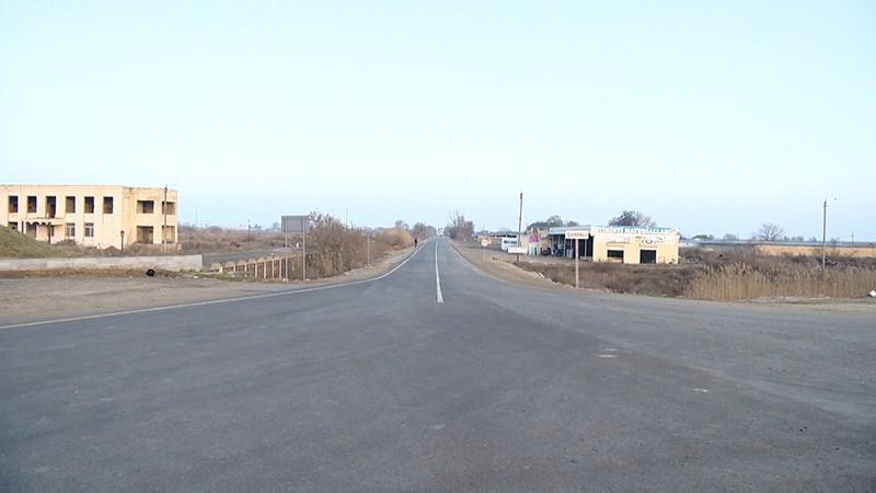 Salyanda 5 yaşayış məntəqəsini birləşdirən yeni yol çəkilib  (VİDEO/FOTO)