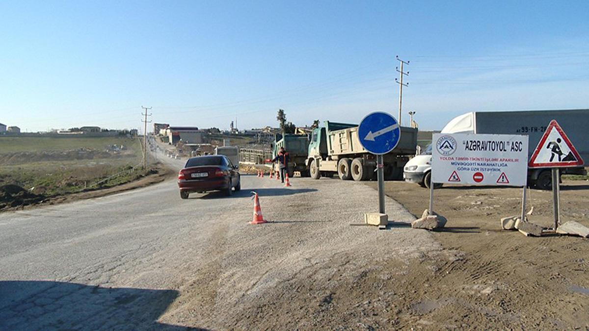 Binəqədi-Novxanı-Corat avtomobil yolunun tikintisi davam etdirilir (VİDEO/FOTO)