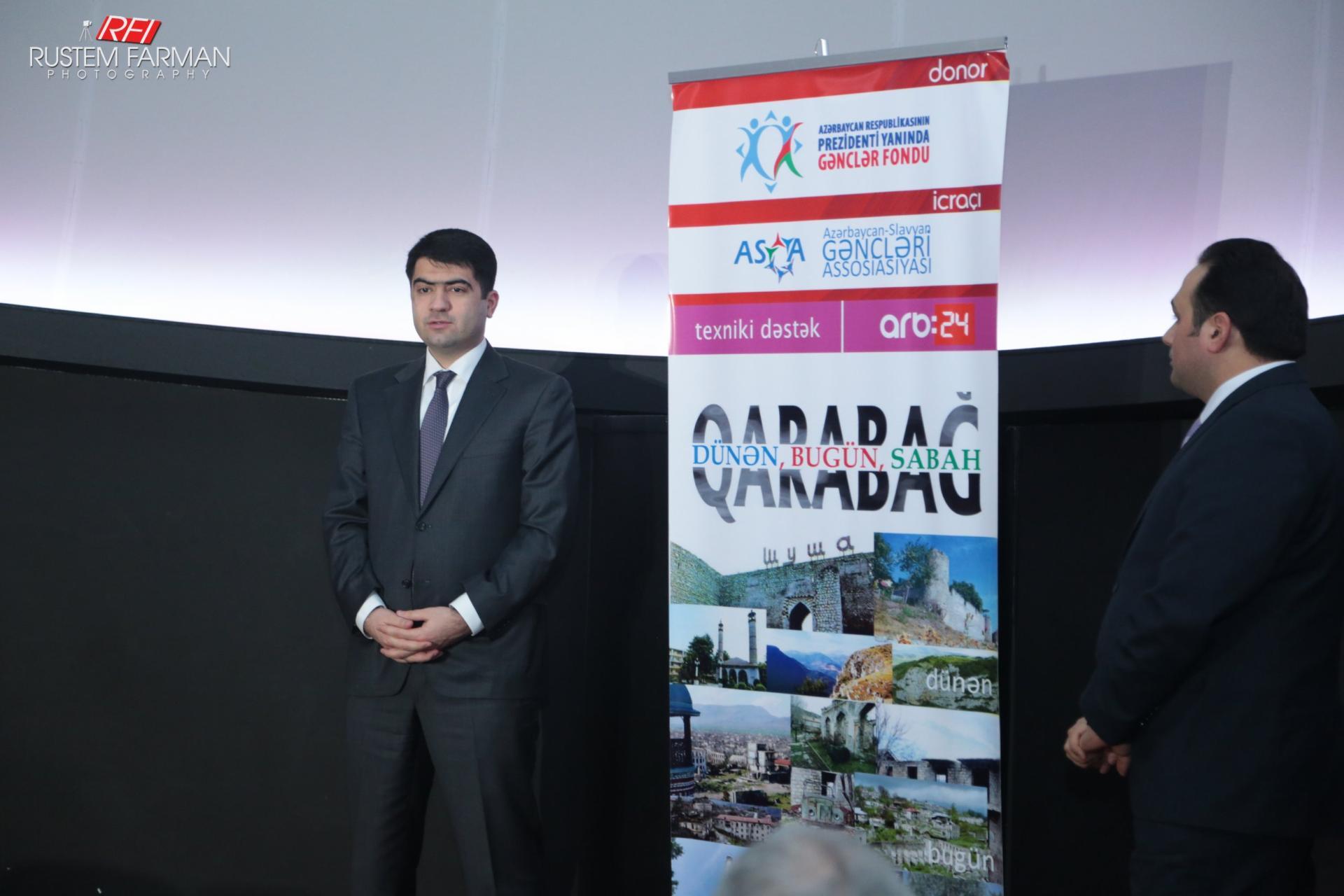 """""""Qarabağ dünən, Qarabağ bu gün, Qarabağ sabah"""" filmi təqdim olundu (FOTO/VİDEO)"""