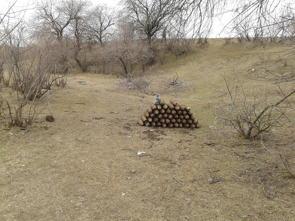 Ağstafada çoxlu sayda partlamamış hərbi sursat tapılıb (FOTO)