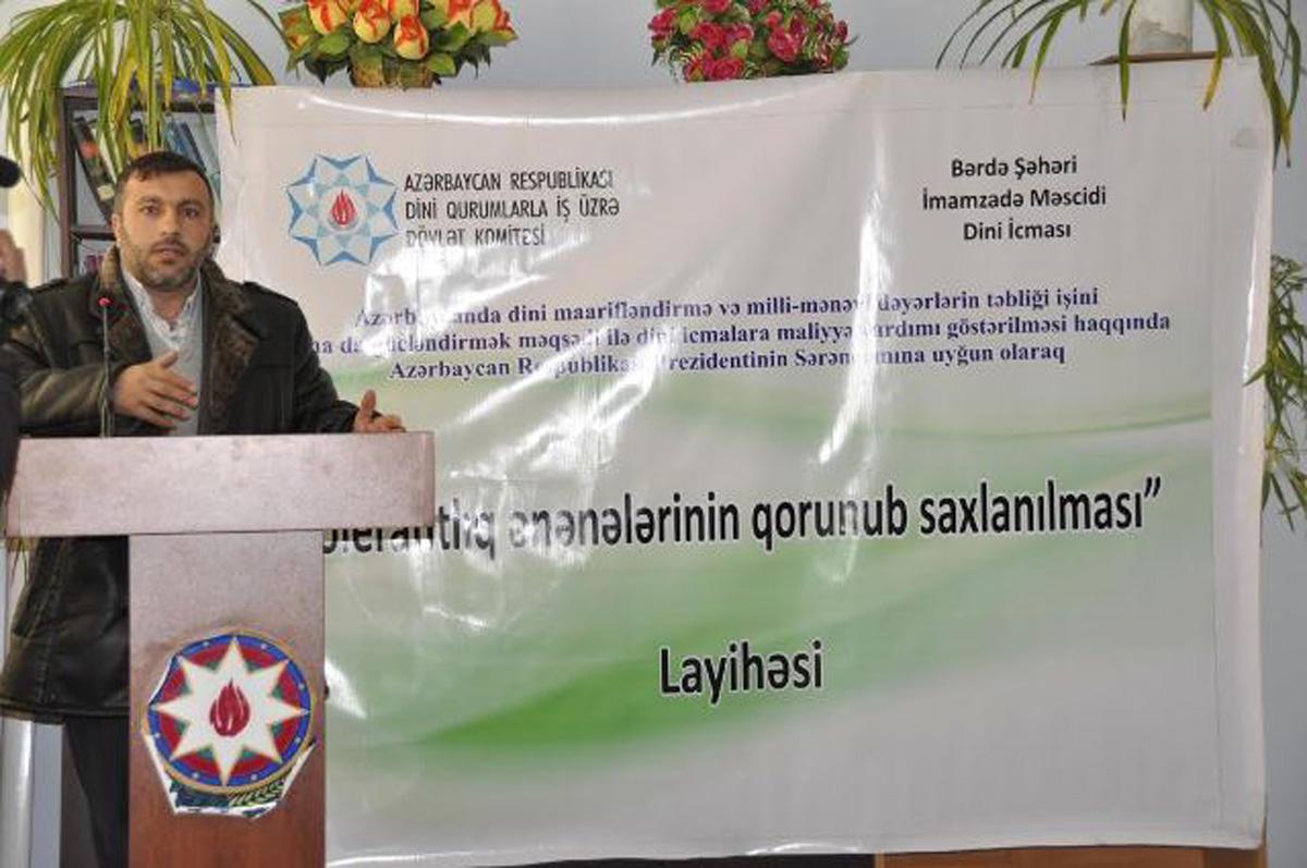Bərdədə tolerantlıq ənənələrinin qorunub saxlanılması müzakirə olunub  (FOTO)