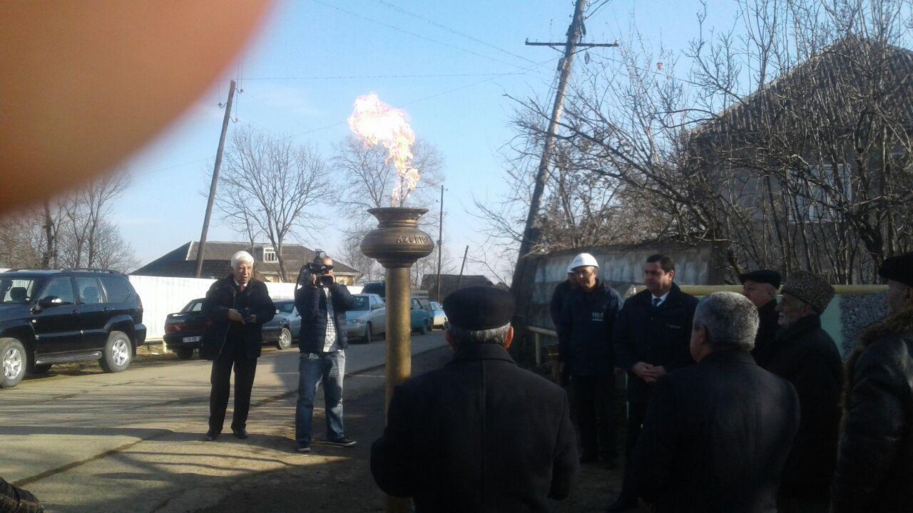 Masallının daha iki kəndinə təbii qaz verildi (FOTO)