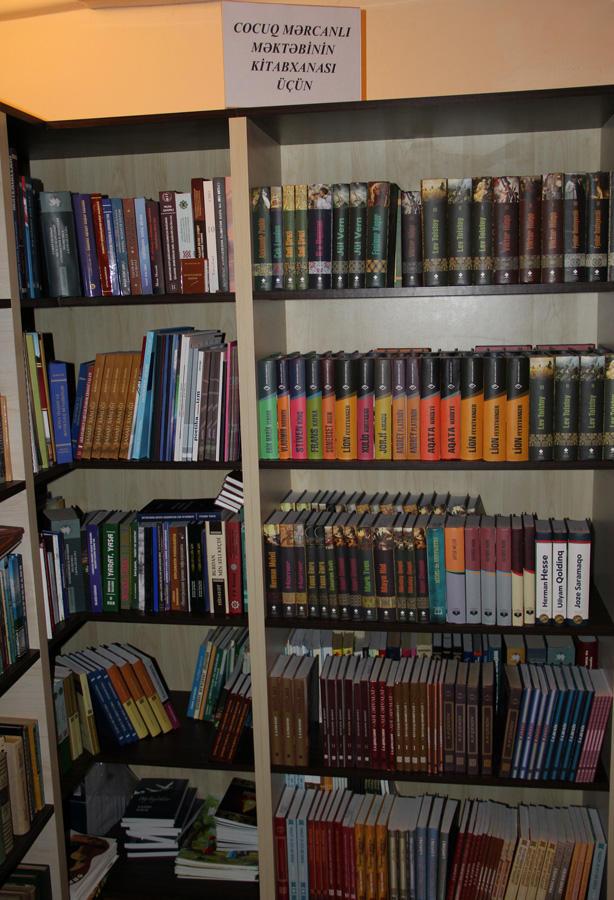 Cocuq Mərcanlı məktəbinin kitabxanasını Bilik Fondu təmin edəcək  (FOTO)