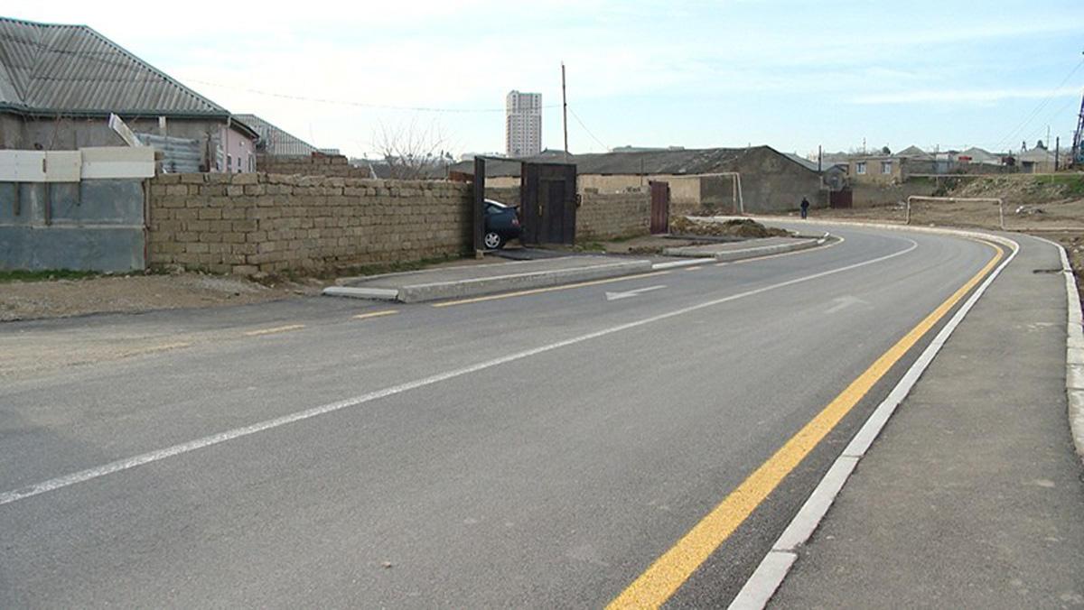Sabunçu-Ramana avtomobil yolunun tikintisi yekunlaşıb (VİDEO/FOTO)