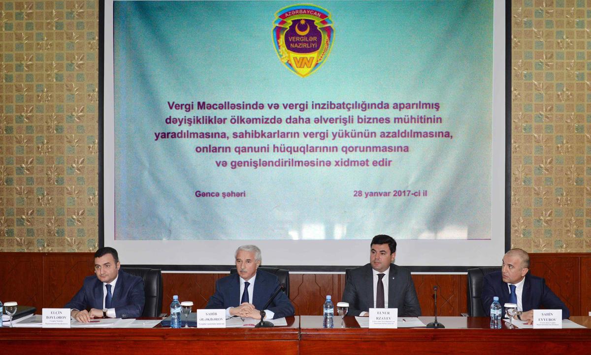 Gəncə sahibkarları vergi qanunvericiliyinə edilmiş dəyişikliklər barədə məlumatlandırılıb (FOTO)