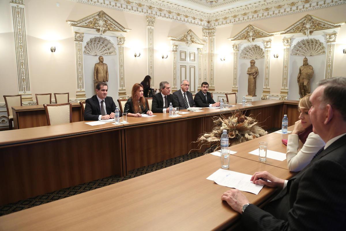 Nazim İbrahimov Amerika Yəhudi Komitəsinin prezidenti və icraçı direktoru ilə görüşüb (FOTO)