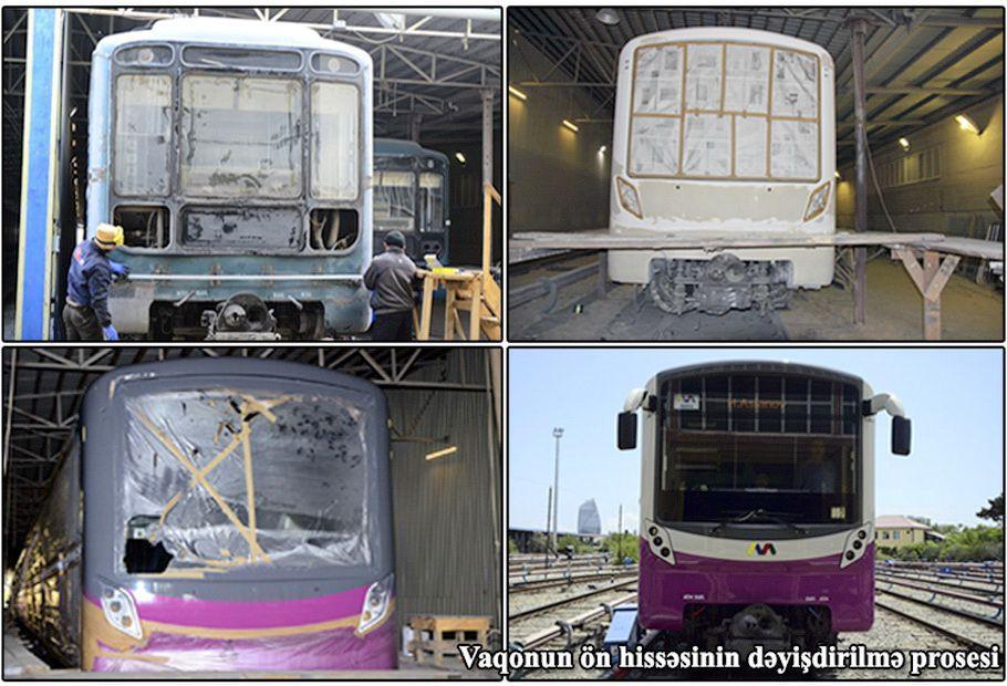 Bakı Metropoliteni: Qatarlar yerli şəraitdə təmir olunur (FOTO)