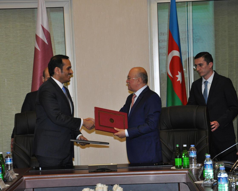 Azərbaycan-Qətər hökumətlərarası komissiyasının ilk iclası keçirilib (FOTO)