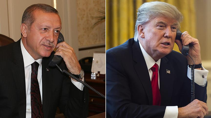 Trump speaks with Erdogan on phone over Syria