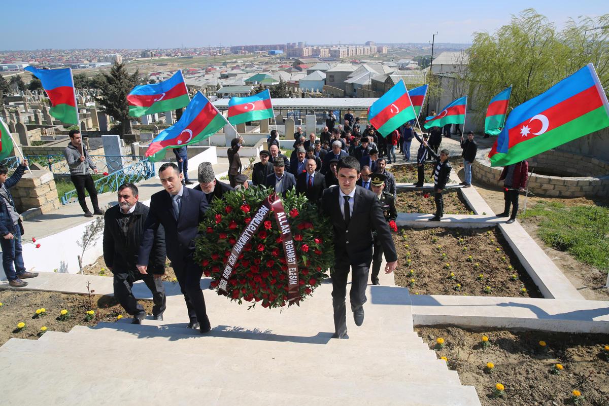 Binəqədi rayonunun şəhidi Emin Bağırovun xatirəsi anılıb (FOTO)