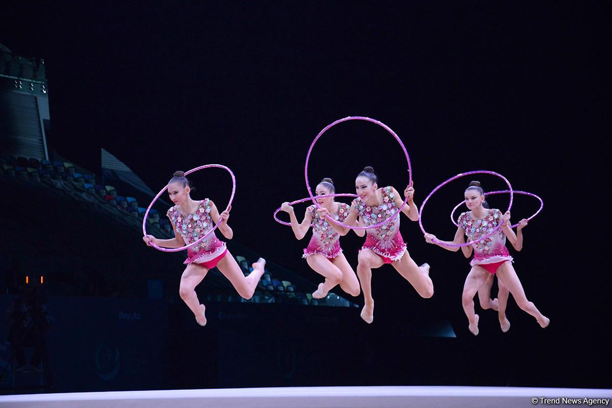 Третий день соревнований Кубка мира по художественной гимнастике в Баку (ФОТО)
