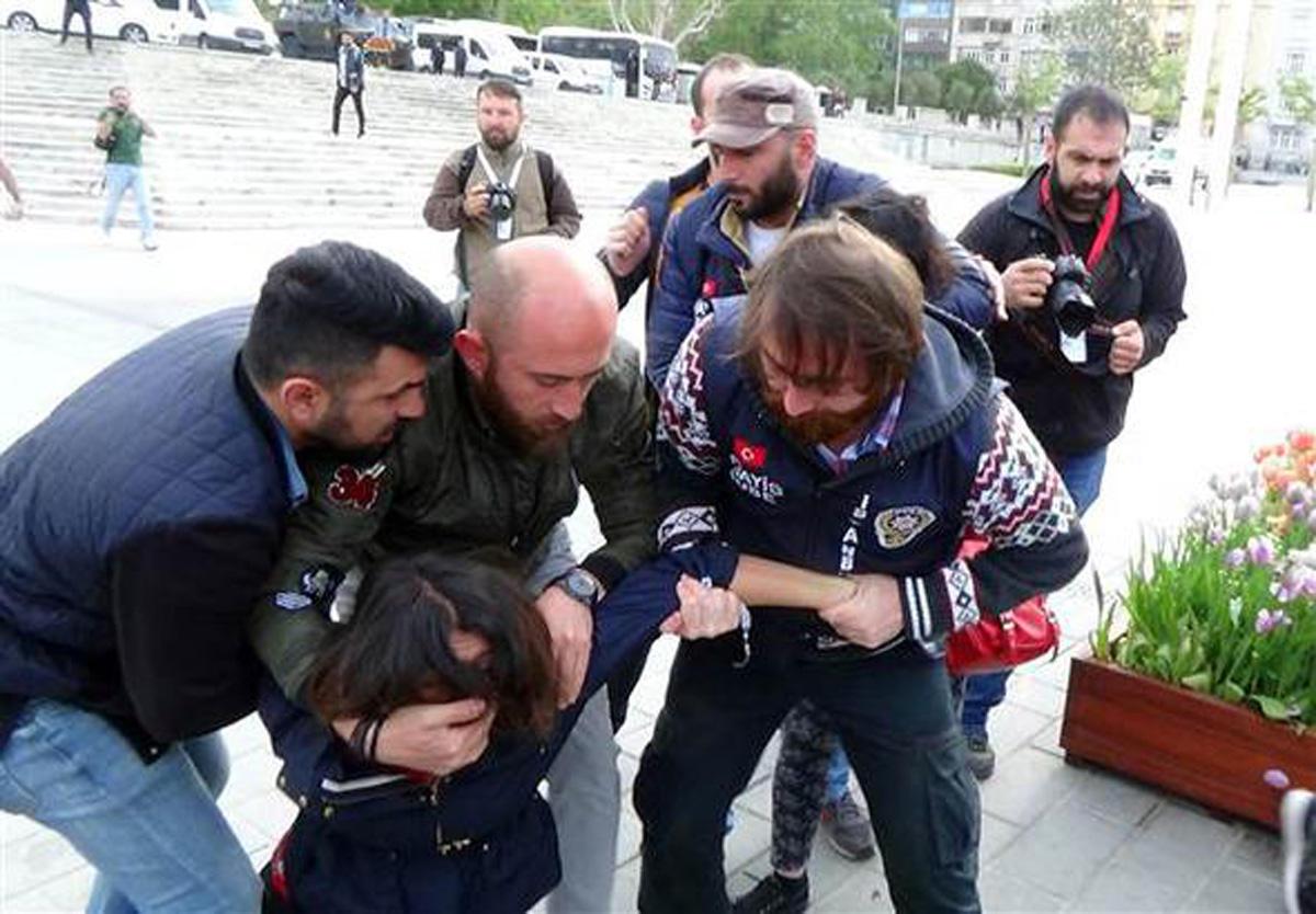 İstanbulda 1 May nümayişləri: 207 nəfər saxlanılıb (FOTO/VİDEO) (YENİLƏNİB-2)