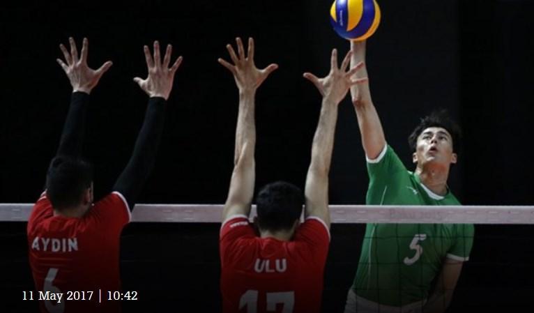 Türk voleybol takımından Bakü'de muhteşem zafer (Fotoğraf)