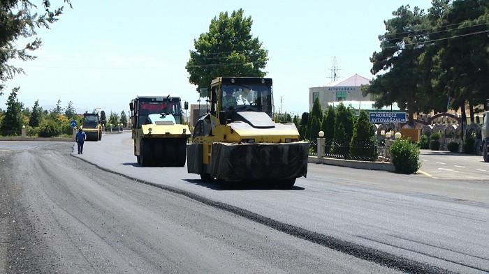 Bəhrəmtəpə-Mincivan yolu yenidən qurulur (FOTO/VİDEO)