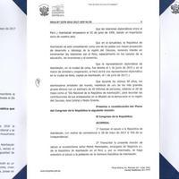 Peru Konqresi 28 May - Respublika Günü münasibətilə sənəd qəbul edib