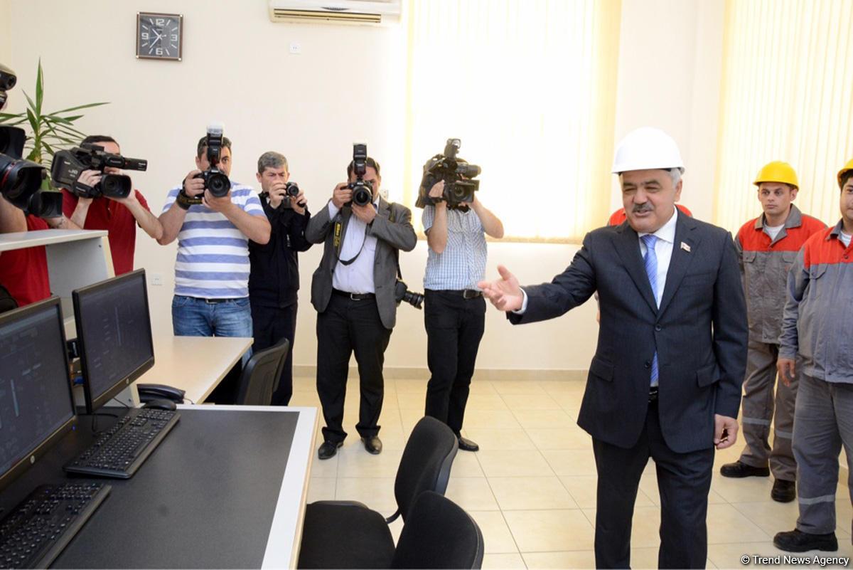 SOCAR Neft Emalı Zavodunda yeni qurğu istifadəyə verib (FOTO)