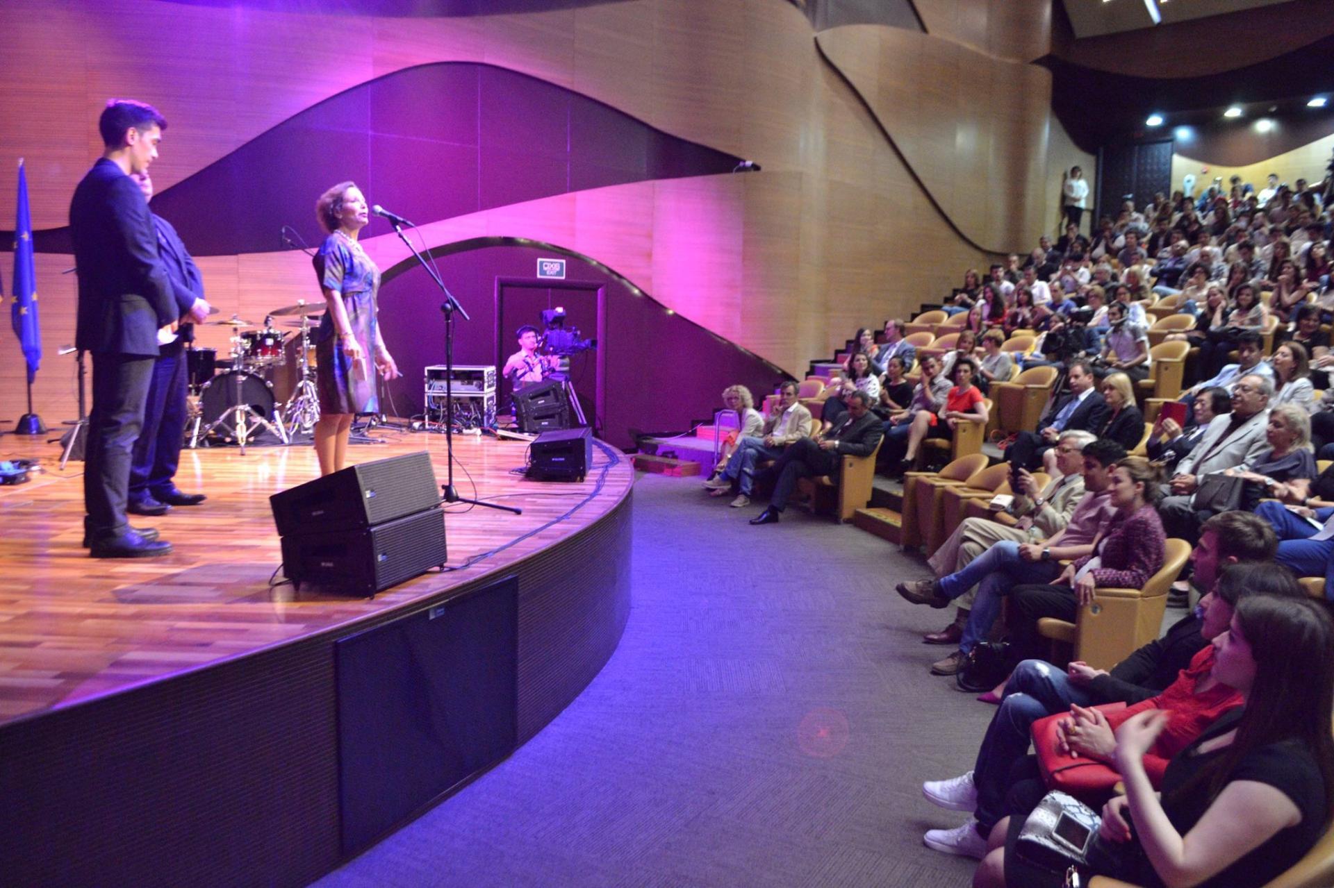Bakıda Azərbaycan, Fransa və Belçika Caz triosunun konserti keçirilib (FOTO)