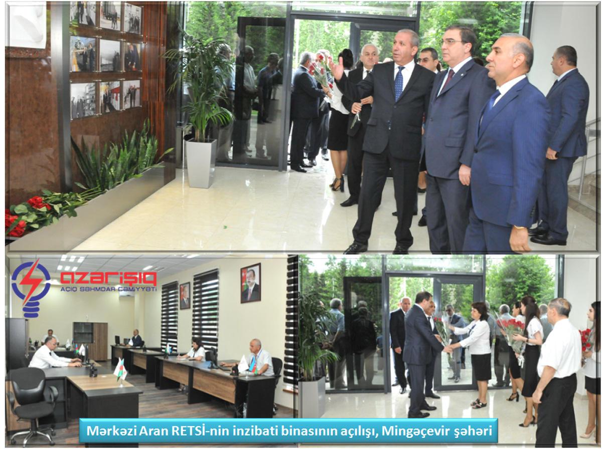 Mərkəzi Aran RETSİ-nin yeni inzibati binası istifadəyə verilib