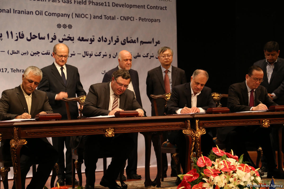 Iran, Total ‎sign deal for South Pars Phase 11 development (PHOTO)