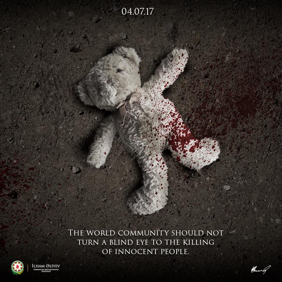 Ilham Aliyev: World shouldn't turn blind eye to killing of innocents