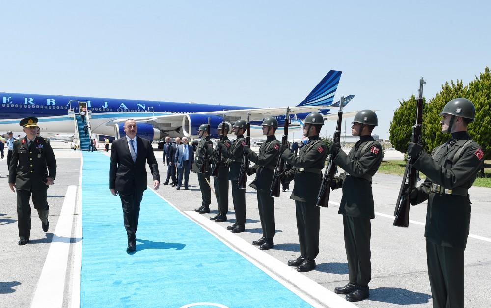 Ilham Aliyev arrives in Turkey to attend 22nd World Petroleum Congress (PHOTO)