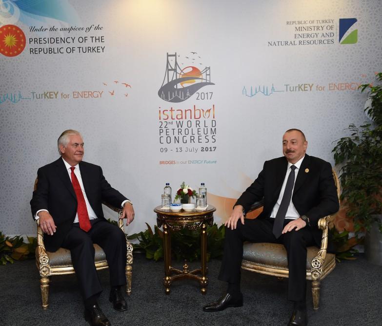 President Aliyev, US Secretary of State Rex Tillerson mull Karabakh conflict (PHOTO)
