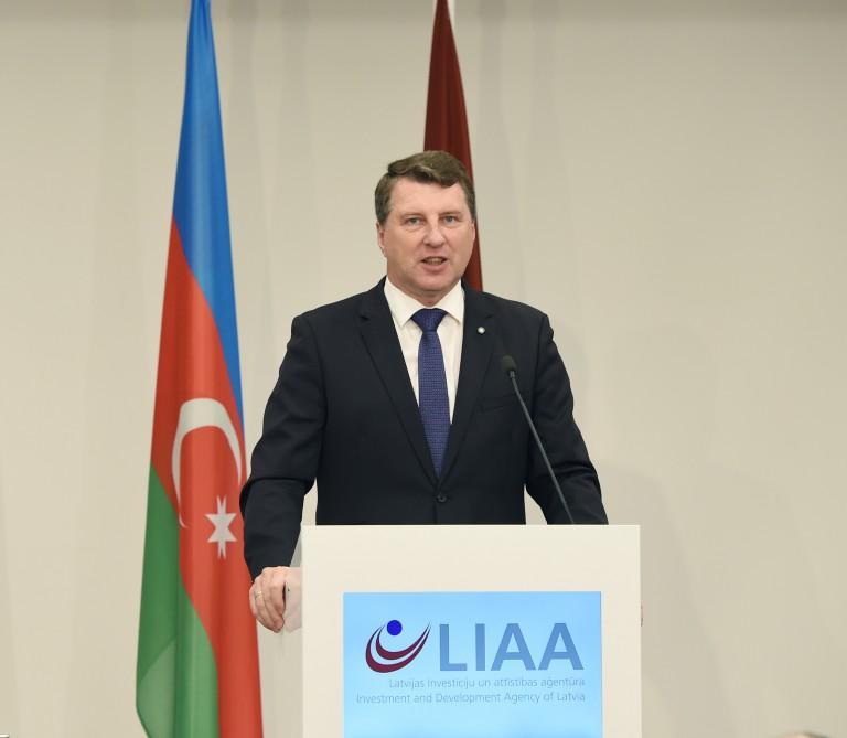 Ilham Aliyev attends Azerbaijan-Latvia business forum in Riga (PHOTO)