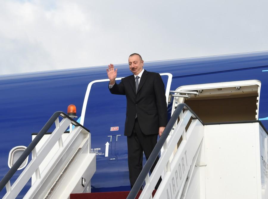 President Aliyev completes official visit to Latvia (PHOTO)