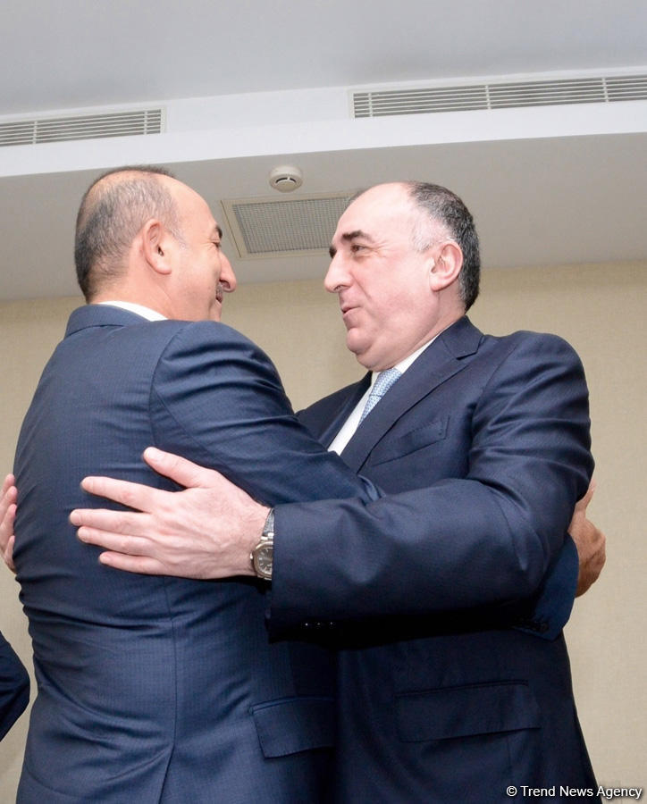 Azerbaijani, Turkish FMs mull talks over Karabakh conflict's solution (PHOTO)