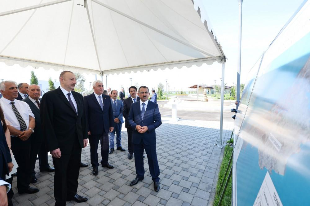 President Aliyev inaugurates drinking water supply project in Pirallahi (PHOTO)