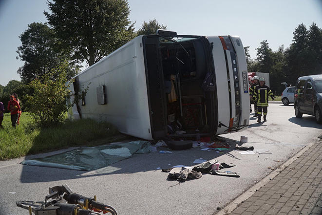 At least one died, 13 seriously injured in road accident in