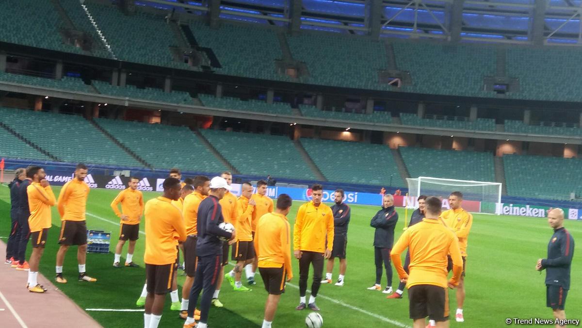 Karabağ-Roma maçı öncesi  (Fotoğraf)