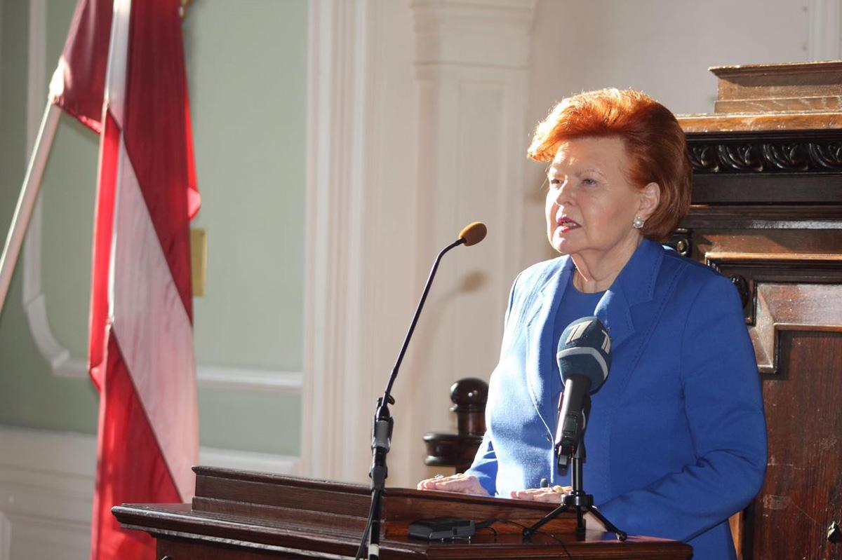 Сопредседатели Международного центра Низами Гянджеви встретились с президентом Латвии (ФОТО)