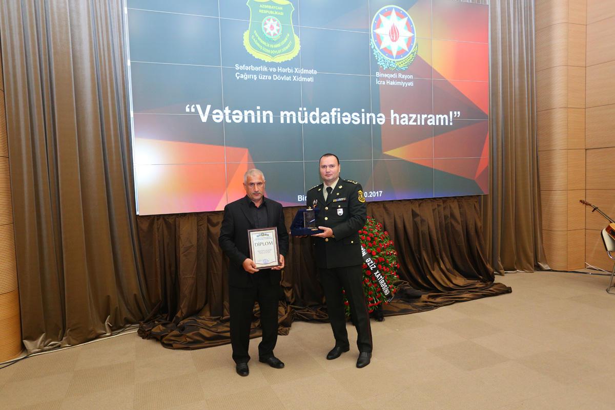 """Binəqədidə """"Vətənin müdafiəsinə hazıram!"""" tədbiri keçirilib (FOTO)"""