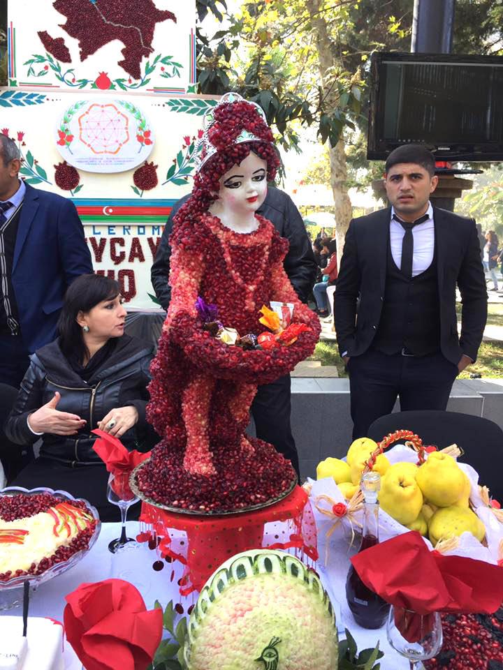 Azerbaycan'da nar festivali (Fotoğraf)